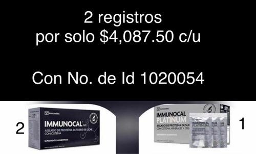 2mx y 1 platinum con inscripción a immunotec
