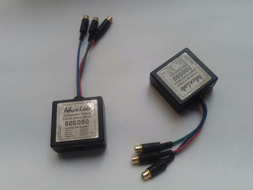 2pack balun video componente muxlab para 305m blu-ray dj bar
