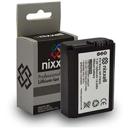 2pack batería nixxell sony npfw50 compatible con alpha a7 a7