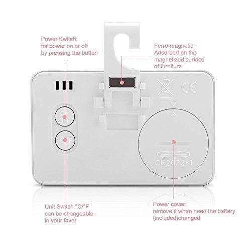 2pack digital para nevera y termómetro para nevera inalámb
