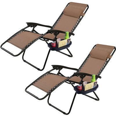 2pc plegable gravedad cero descanso sal n sillas brown en mercado libre - Sillon gravedad cero ...