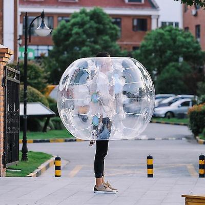 2pcs 1.2m burbuja inflable zorb ball fútbol pvc mango humano