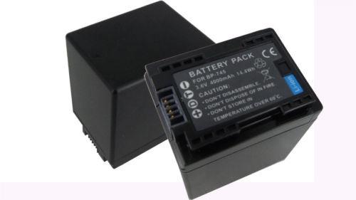 2pcs 3.6v batería para canon bp-727 745 bp vixia hf m50 m500