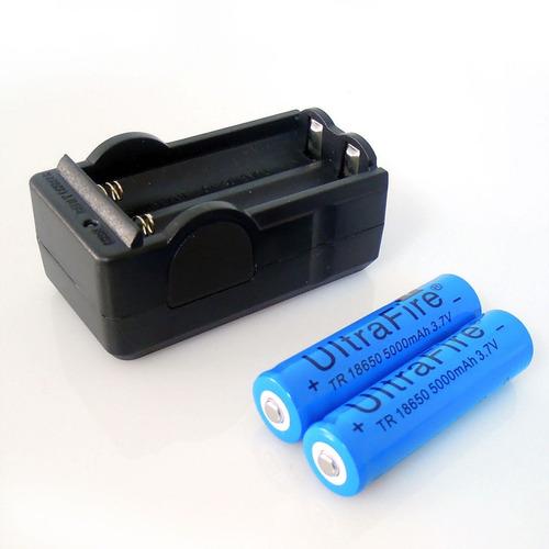 2pcs baterías de li-ion batería 18650 3.7v recargables de 50