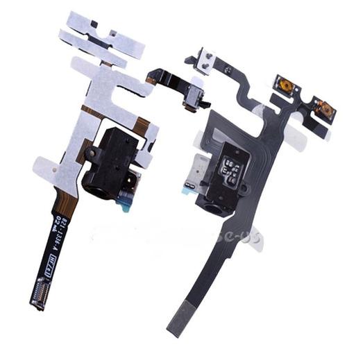 2pcs cable flex ribon headphone audio jack pa iphone 4s 4gs