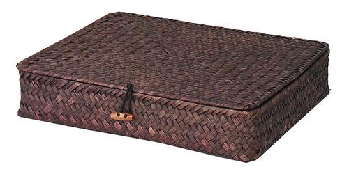 2pcs caña hacer paja cesta caja bin viento mimbre