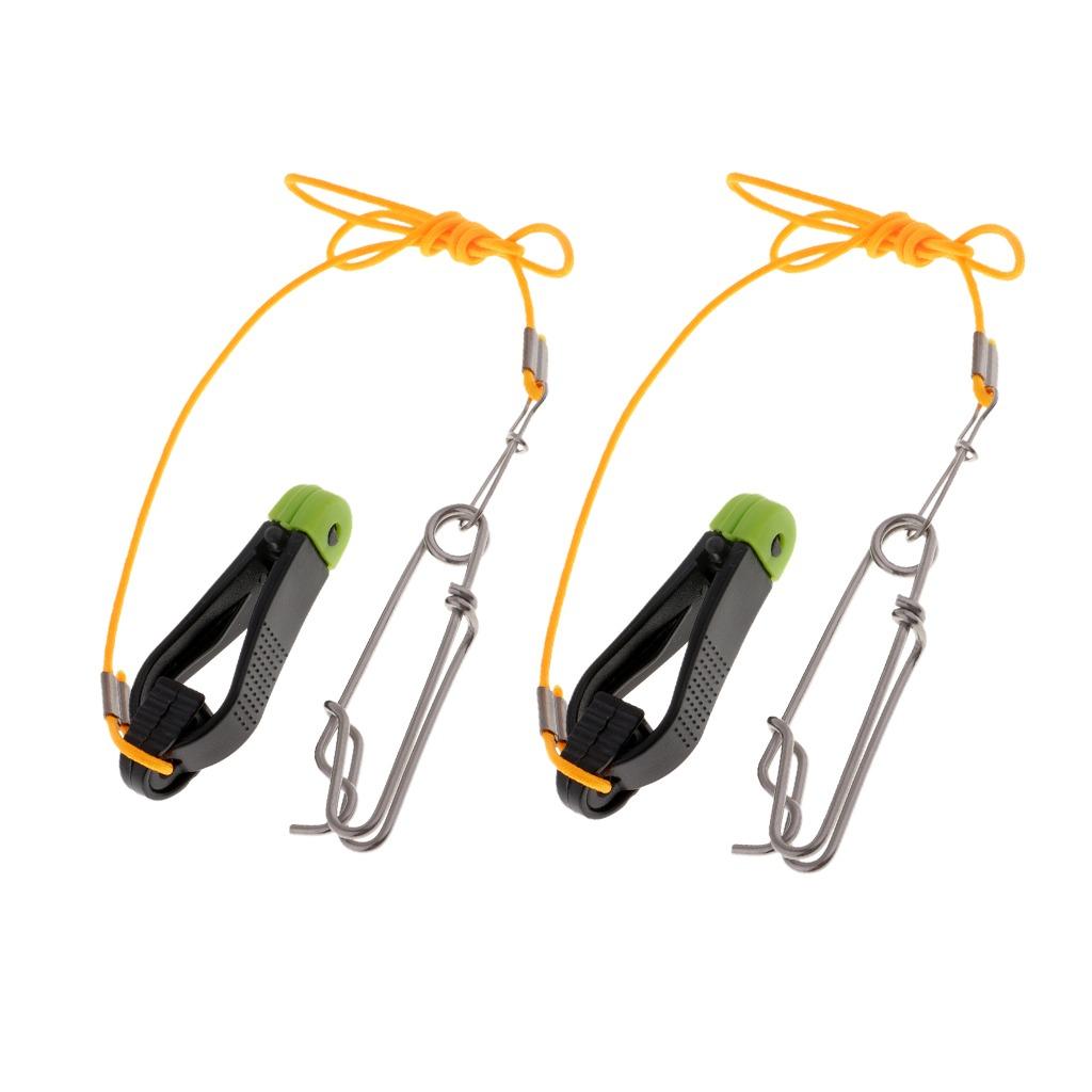 Fishing Power Grip Plus Downrigger Line Release Stacker Clips Black