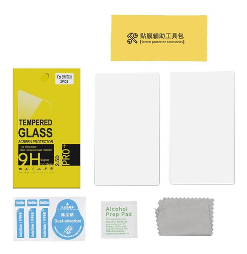 2pcs protector de pantalla para nintend switch lite vidrio