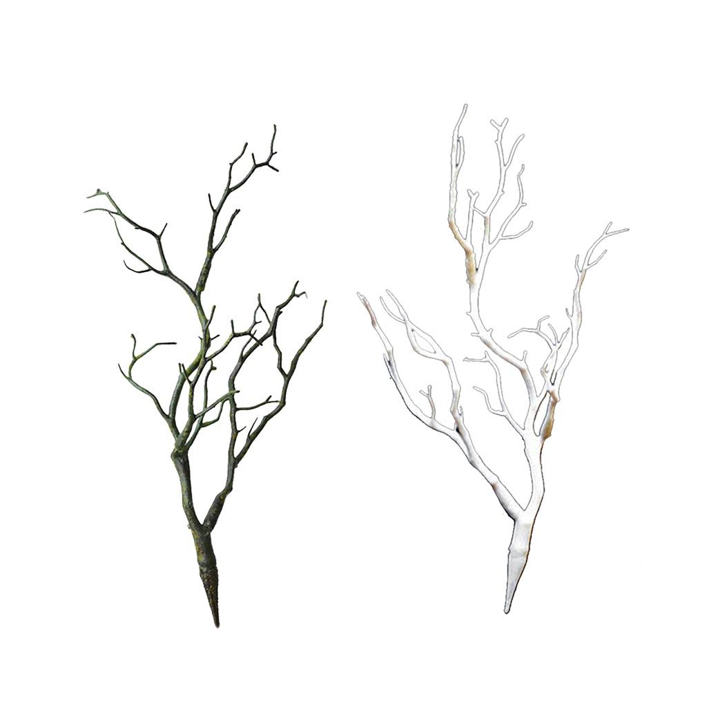 2pcs rama de rbol seco artificial de pl stico decoraci n - Ramas de arbol para decoracion ...