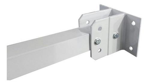 2pcs suporte sensor barreira infra aluminio câmera 1mt cftv