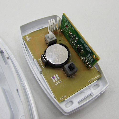 (2peças) botoeira prime dupla sem fio ipec branca 433.92 mhz