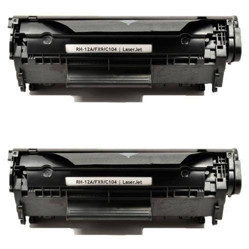 2pk compatible para el cartucho de tóner de canon 104 crg104