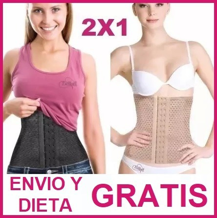 2pz faja colombiana cinturilla corset + dieta y envio gratis