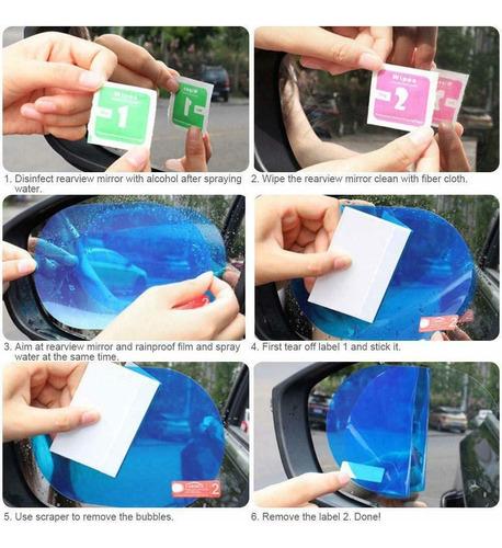 2pz mica antiempañante película espejo retrovisor 9.5x13.5cm