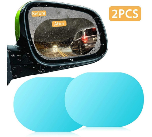 2pz película de mica espejo retrovisor antiempañante 10x15cm