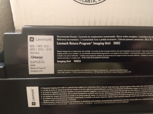 2tonner black y unid de imágen lexmark ms/mx 310/410/510/610