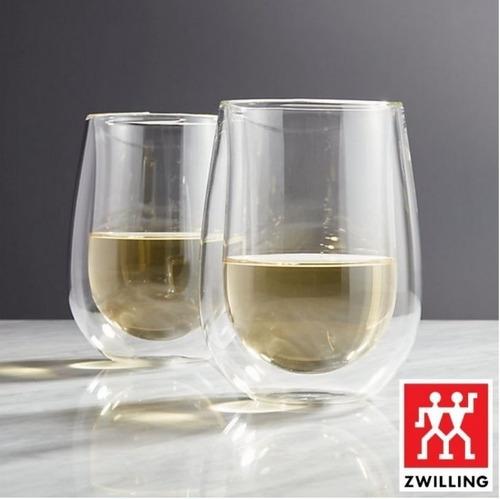 2un copos de vidro parede duplo long drink 355ml - zwilling