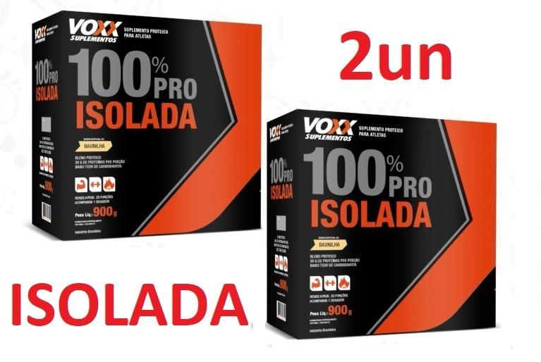 ffb3a039d 2un Voxx Whey 100% Pro Isolada - Baixo Teor De Carboidratos - R  287 ...