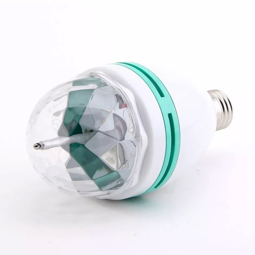 2x ampolleta led e-27, bola de disco, luz de fiesta, laser