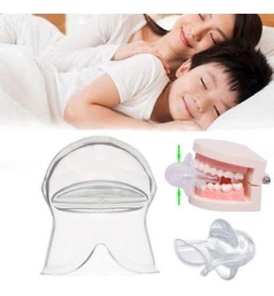 2x anti ronquido dispositivo de lengüeta de silicona sleep a