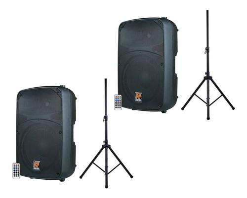 2x caixas ativa staner sr315a usb/bluetooth + frete incluso