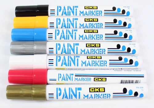 2x caneta permanente paint marker cks preto