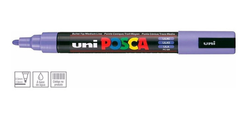 2x caneta posca uni ball lilas pc-5m