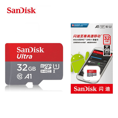 2x cartão memória sandisk 32gb micro sd ultra original 98mb