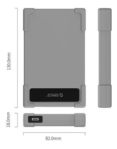 2x case hd externo usb 3.0 orico 2.5'' sata hdd/ssd