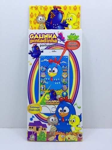 2x celular infantil iphone galinha pintadinha brinquedo 3d29
