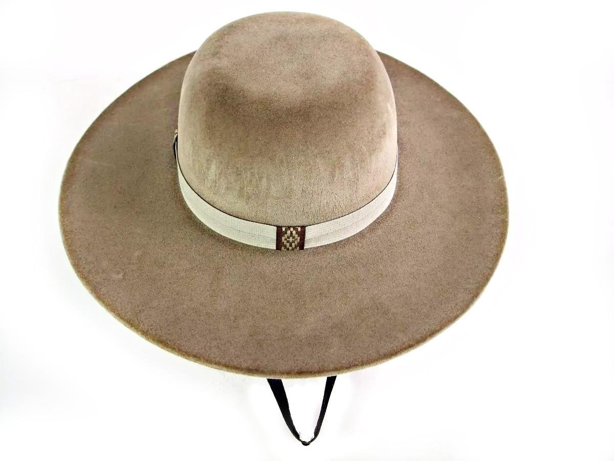 2x chapéu gaúcho pantaneiro camurça aba 10cm+barbicacho p01. Carregando  zoom. cccda9671cb