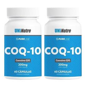 2x Coenzima Q10 - 200mg Por Capsula - 100% Pura C/ Laudo !!