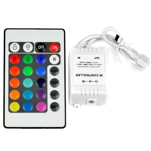 2x control remoto 24k c/pila + adaptador 12v 3a cinta led