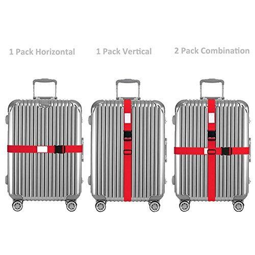 2x correas de equipaje correa de maleta ajustable bolsa de e