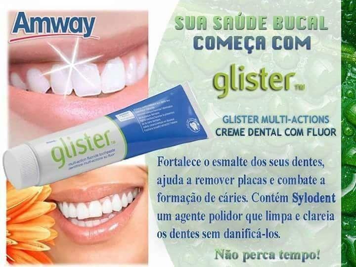 2x Creme Dental Pasta Dente Glister Multi Amway 200g Eua R 56 10
