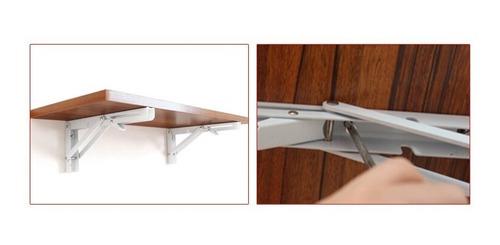 2x escuadra abatible repisa mesa fierro blancas tmaño pequeñ