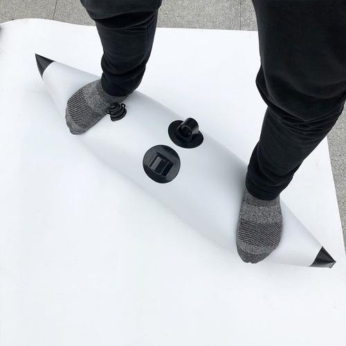 2x estabilizador de kayak canoe con 2x soporte de varilla cl