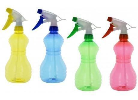 2x frasco pulverizador botella plastico 24cm de alto 500ml