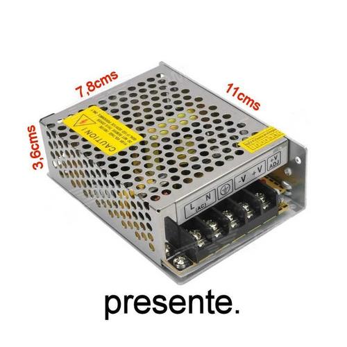 2x fuente de poder 12v 5a 60w cintas led cámaras