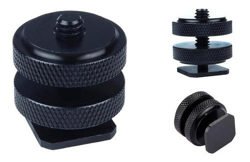 2x hot shoe adaptador de zapata cámaras dslr tornillo 1/4