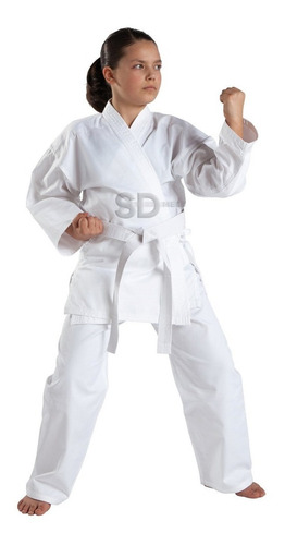 2x karategui con cinturón blanco  artes marciales