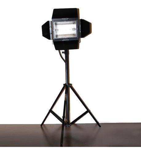 2x kit tripé + colortran c/ lâmpada 1000w/220v - foto vídeo