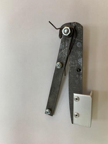 2x lamina faca guilhotinha maquina tobogã reparo + 2 molas