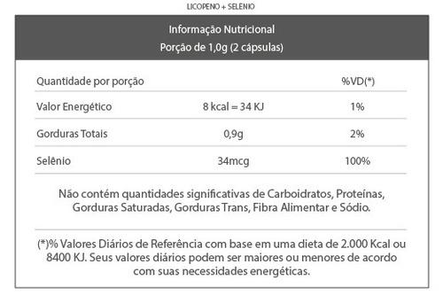 2x licopeno + selênio 500mg - 80 cáps