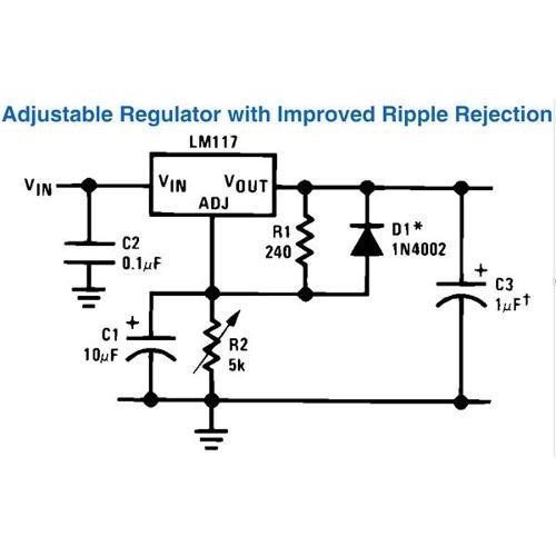 2x lm317t lm317 variable voltaje regulador