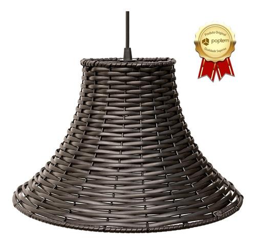 2x lustre pendente luminária junco chapéu chinês sala