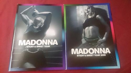 2x madonna sticky & sweet 2008 & 2009 program programme conc