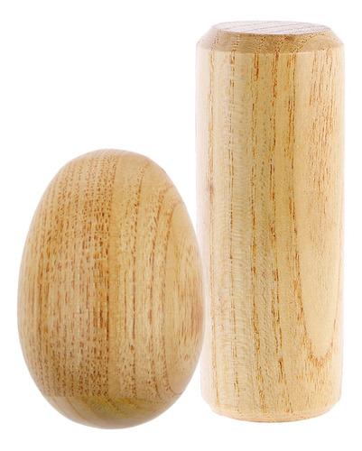 2x maraca shaker de madera instrumento musical de percusión
