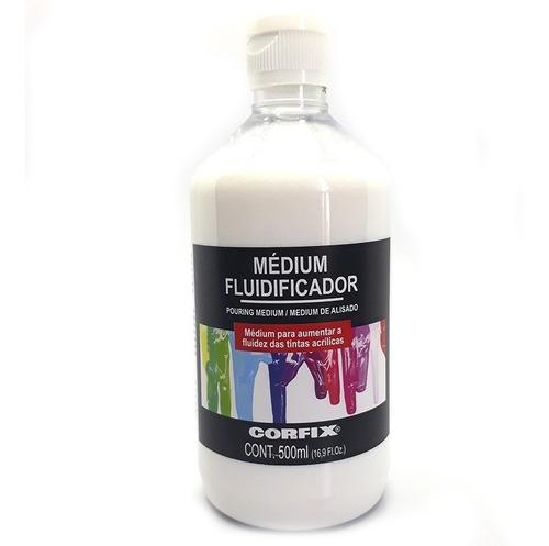 2x medium fluidificador corfix 500ml aumenta fluidez d tinta