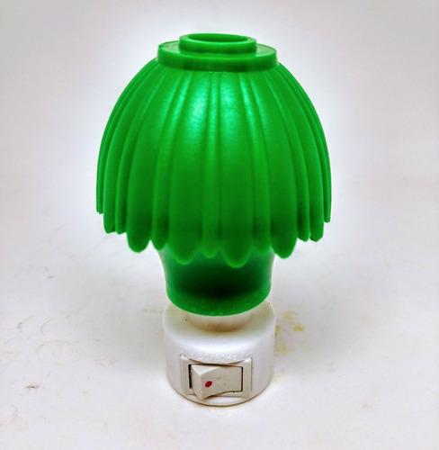 2x mini abajur elétrico arandela verde de tomada 127/110v